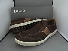 NEW ECCO ENNIO SLIP ON MENS LEATHER COMFORT SHOES COFFEE / COGNAC