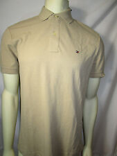 TOMMY HILFIGER mens CUSTOM FIT KHAKI polo shirt with flag logo new nwt
