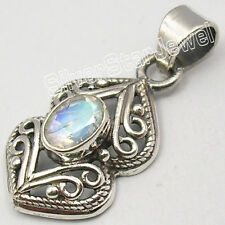 925 Silver Celtic Pendant RAINBOW MOONSTONE, CITRINE & Other Gem Choice SEE MORE