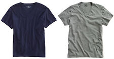 Double Ralph Lauren RRL Mens Vintage Solid Navy Grey Slim Fit V Neck Tee T Shirt