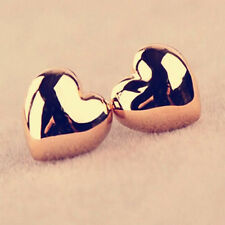 Fashion Women Lady Smooth Plated Love Heart Knot Stud Ear Earrings Jewelry Gift