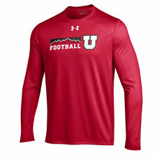 Utah Utes Under Armour 2016 On-Field Tech Long Sleeve T-Shirt - Red - NCAA