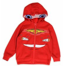 Disney Pixar Cars Toddler Boy's Lightening McQueen Red Full Zip Hoodie