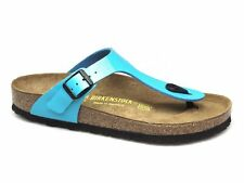 Birkenstock GIZEH Ladies Summer Beach Birko-Flor Toe Post Sandals Lack-Blue