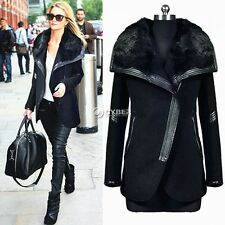 Fashion Womens Wool Warm Slim Long Coat Jacket Parka Trench Windbreaker Outwear