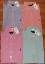 NWT Polo Ralph Lauren Mens Long Sleeve Button Down Striped Dress Shirt Pony Logo