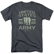 U.S. ARMY - UNITED STATES ARMY CHARCOAL COLOR T-SHIRT 100% COTTON SIZES S - 5XL