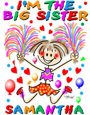 BIG SISTER T-SHIRT-CHEERLEARDER DESIGN BY ED SEEMAN- FREE CUSTOMIZING