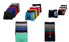 6 12 Mens Microfiber Boxer Briefs Underwear Modern Seamless Compression Knocker
