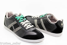 NIB DIESEL Men's Black Green Leather Lounge Fashion Color Casual Sneakers Shoes
