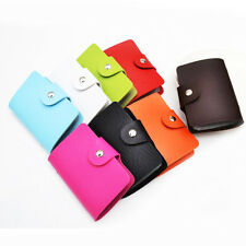 Hot  Women PU Leather Wallet Holder Pocket Business ID Credit Card Case 12Cards