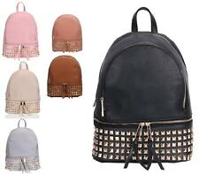 LADIES GIRLS RUCKSACK DESIGNER STYLE FAUX LEATHER SCHOOL RETRO BACKPACK
