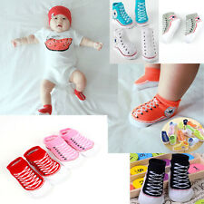 1 Pair Baby Infant Toddler Girl/ boy Crib Kid Warm Soft Shoes Socks 0-12 months