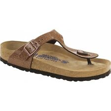 Birkenstock GIZEH Ladies Glitter Buckle Toe Post Summer Beach Sandals Bronze