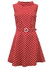 NEW RETRO 60s SIXTIES SUMMER MINI POLKA DOT DRESS SLEEVELESS MC243 A1 D/E