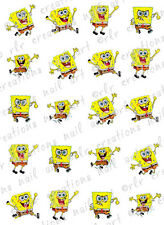 20 Nail Transfers Decals* SPONGEBOB AND FRIENDS* Waterslide Nail Art Decals