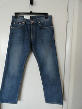 "NWT HUGO BOSS ""MAINE"" MENS JEANS REGULAR FIT ZIP FLY COTTON MEDIUM WASH $145+"