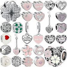 Pop New Fashion Diy Bead 925 Sterling Silver Charms Fit Genuine Bracelets Chain