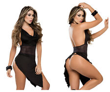 Mapale 7072 Babydoll with Matching G-String Color Black