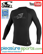 O'Neill Skins Rashguard Long Sleeve Crew 50+ UV Protection - Black SUPER STRETCH
