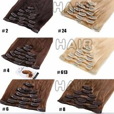 "Real Long Clip In Remy Human Hair Extensions Full Head 18-20-22"" 7 Piece USMX017"
