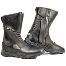 Richa Zenith Leather Waterproof Motorbike Motorcycle Touring Boots - Black