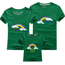Hot Parent -child Father mother baby clothes lovers T-shirt happy family rainbow