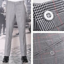 NEW Relco Mod Sta Press Trousers Prince Wales Check
