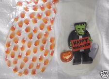 Halloween Treat Bags, Frankenstein & Candy Corn Cello Loot, Trick or Treat 25p