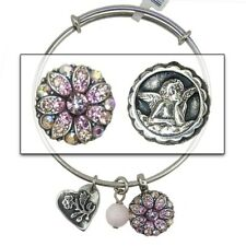 Mariana Guardian Angel Crystal Charm Bangle Bracelet 319 Rose Peach AB Swarovski