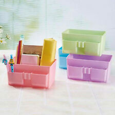 Stationery Storage Box Organizer Desk Plastic Decor Makeup DIY Cosmetic Case