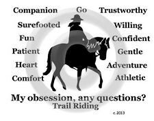 Western Trail Horse My Obsession, Any Questions? T-shirt Our Original