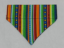 DOG/CAT/FERRET Over Collar REVERSIBLE Bandana~Festive Circus Colorful Stripes