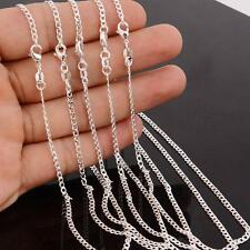 """Wholesale 5PCS 24"""" Jewelry 925 Silver Plated Rolo Curb Words Link Chain Necklace"""