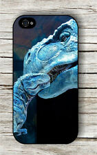 DINOSAUR T-REX MOTHER AND SON IN BLUE CASE FOR iPHONE 4 , 5 , 5c , 6 -v3r4t