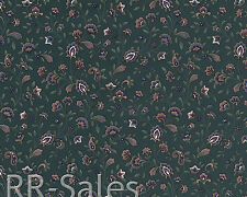 Dark Green Living Little Jacobean Flower Vintage Kitchen Wallpaper Wall Cover