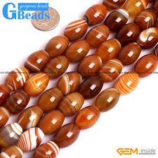 Natural Botswana Stripe Agate Gemstone Olivary Beads Free Shipping Strand 15""