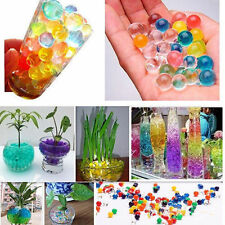 500pcs Jelly Crystal Mud Soil Water Beads Pears Balls Gel Plant Flower Kids toy