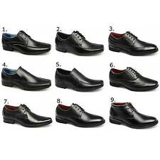Front Boys Leather Smart School Formal Lace-Up & Slip On School Shoes Black