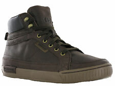Caterpillar Zander Mulch Hi-Top Mens Leather Casual 7eye Boots Trainers