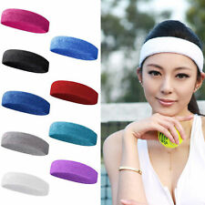Sport Yoga Gym Women Cotton Men Sweat Sweatband Headband Stretch Head Band Hair