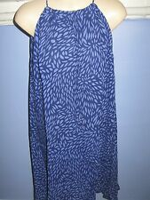 PLUS SIZE 18 20 Tunic Dress High Neck -  Blue CLEARANCE