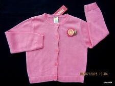 Gymboree Tropical Garden Coral Pink Flower Sweater Cardigan 5 NWT New