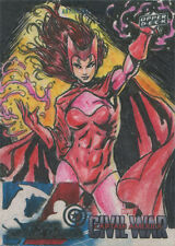 Captain America Civil War Sketch Card by Ken Racho of Scarlet Witch