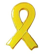 Yellow Awareness Ribbon Lapel Pin Troops Liver Bladder Cancer Cause Pins New