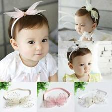 Newborn Baby Girl Headband Lot Elastic Lace Bow Flower Hair Band Accessories
