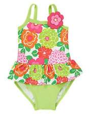 NWT Gymboree Floral Ruffle One-Piece Swimsuit Sizes 12-18 & 18-24 M