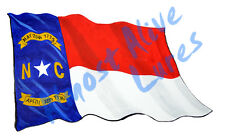 North Carolina NC State Flag Vinyl Decal Sticker - Car Home Truck Cooler Boat RV