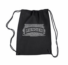 Drawstring Backpack - The US Ranger Creed Created using The Ranger Creed
