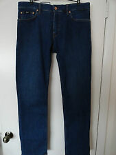 "NWT HUGO BOSS ""MAINE"" MENS JEANS REGULAR FIT STRETCH ZIP FLY MEDIUM WASH"